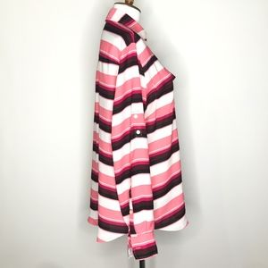 New York & Company Tops - New York & Company Pink White Striped Top A030640